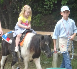 The pony was a rescue. The little girl wishes she were rescued by a pony farm.